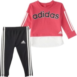 Adidas Baby Girls Long Sleeve French Terry Pullover & Tight Set found on Bargain Bro India from Macy's for $32.99