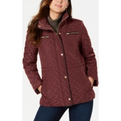 Cole Haan Signature Faux-Leather-Trim Quilted Anorak Coat found on Bargain Bro Philippines from Macy's Australia for $93.02