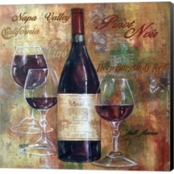 Napa Valley Pinot Lettered by Jamie Carter Canvas Art found on Bargain Bro India from Macys CA for $75.13