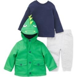 Little Me Baby Boys 3-Pc. Dinosaur Jacket, T-Shirt & Pants Set