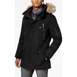Calvin Klein Men's Long Snorkel Coat with Faux-Fur Trimmed Hood found on MODAPINS from Macy's for USD $122.99
