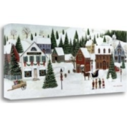 Tangletown Fine Art Christmas Valley Village by David Carter Brown Giclee on Gallery Wrap Canvas, 28