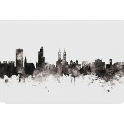 Michael Tompsett Winterthur Switzerland Skyline Black White Canvas Art - 15