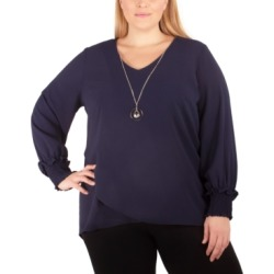Ny Collection Women's Plus Size Crossover Tunic found on Bargain Bro Philippines from Macy's for $36.75
