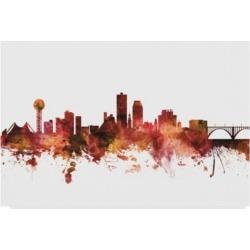 Michael Tompsett Knoxville Tennessee Skyline Red Canvas Art - 15