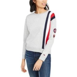 Tommy Hilfiger Logo-Stripe Sweatshirt found on MODAPINS from Macy's for USD $27.73