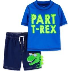Carter's Baby Boys 2-Pc. T-Rex Rash Guard Set
