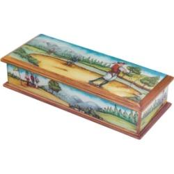 Badash Crystal Golf Scenery Keepsake Box