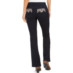 Style & Co Petite Bling Pocket Bootcut Jeans, Created For Macy's