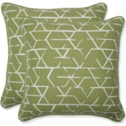 Pillow Perfect Fortress Kengo Artichoke Throw Pillow, Set of 2
