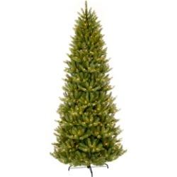Puleo International 12 ft. Pre-lit Slim Franklin Fir Artificial Christmas Tree 1200 Ul listed Clear Lights