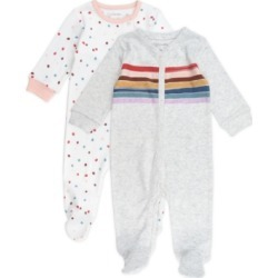 Mac & Moon Baby Girl 2-Pack Footed Sleep and Play