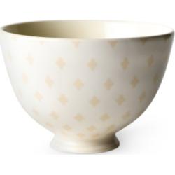 """Coton Colors by Laura Johnson Ecru Quatrefoil 6"""" Footed Bowl"""