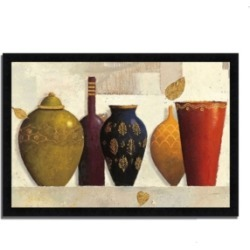 Tangletown Fine Art Jeweled Vessels by James Wiens Framed Painting Print, 46