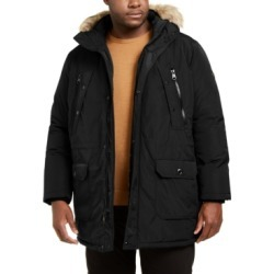 Calvin Klein Men's Big & Tall Long Snorkel Coat with Faux-Fur Trimmed Hood found on MODAPINS from Macy's for USD $169.99