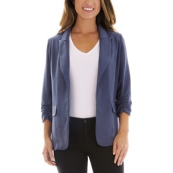 Bcx Juniors' Ruched-Sleeve Open-Front Blazer found on MODAPINS from Macy's for USD $35.40