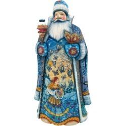 G.DeBrekht Woodcarved Regal Butterfly Santa Figurine