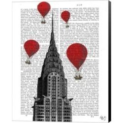 Chrysler Building And Red Hot Air Balloons By Fab Funky Canvas Art found on Bargain Bro Philippines from Macy's for $315.00