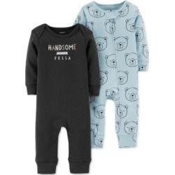 Carter's Baby Boys 2-Pack Printed Cotton Coverall