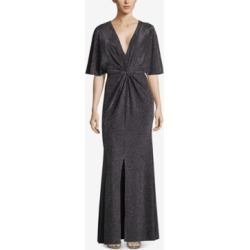 Betsy & Adam Metallic Twist-Front Slit Gown found on Bargain Bro India from Macys CA for $149.84