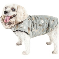 Pet Life Luxe 'Gold-Wagger' Gold Leaf Fur Dog Jacket Coat
