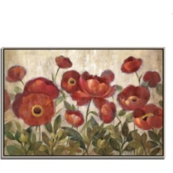 Tangletown Fine Art Daydreaming Flowers by Silvia Vassileva Fine Art Giclee Print on Gallery Wrap Canvas, 38
