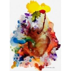 "Pat Saunders-White Heartfelt Alcohol Ink Xt Canvas Art - 36.5"" x 48"""