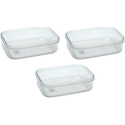 Lustroware Food Storage Containers, 1.4 qt - Set of 3