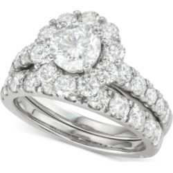 Marchesa Certified Diamond Bridal Set (3 ct. t.w.) in 18k White, Yellow and Rose Gold found on Bargain Bro India from Macy's for $12500.00