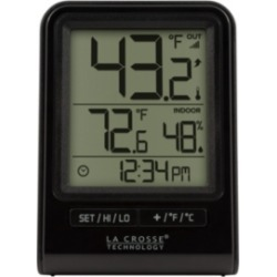 La Crosse Technology 308-1409BT Wireless Temperature Station with Time