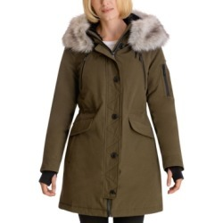 BCBGeneration Faux-Fur-Trim Hooded Water-Resistant Anorak Parka found on MODAPINS from Macy's Australia for USD $221.78
