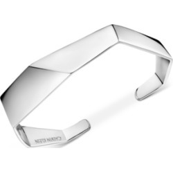 Calvin Klein Angled Cuff Bracelet in Silver-Tone found on Bargain Bro India from Macy's for $129.00