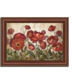 Tangletown Fine Art Daydreaming Flowers by Silvia Vassileva Framed Painting Print, 43