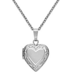 Children's Embossed Heart Locket in Sterling Silver