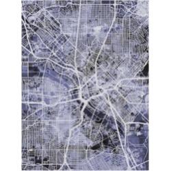Michael Tompsett Dallas Texas City Map Blue Canvas Art - 20