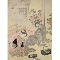 Suzuki Harunob Courtesan Dreaming Canvas Art - 36.5