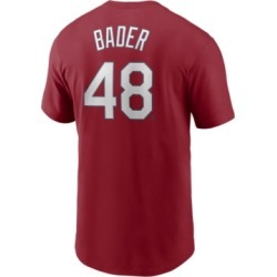Nike Men's Harrison Bader St. Louis Cardinals Name and Number Player T-Shirt found on Bargain Bro India from Macy's for $35.00