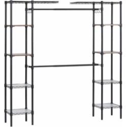 Edsal Steel Garment Rack with Adjustable Shelves