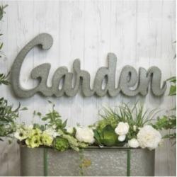 """Vip Home International Metal """"Garden"""" Sign"""