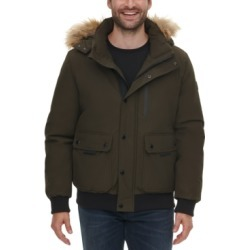 Calvin Klein Men's Bomber Parka with Faux Fur Hood found on MODAPINS from Macy's for USD $113.75