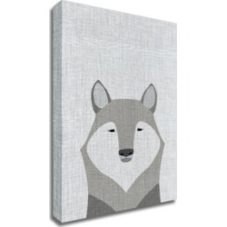 Tangletown Fine Art Gray Wolf by Annie Bailey Art Print on Canvas, 24