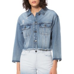 Lola Jeans Crop Denim Jacket found on MODAPINS from Macy's for USD $95.00