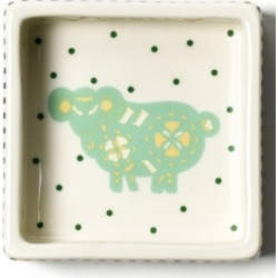 Coton Colors by Laura Johnson Chinese Zodiac Ram Square Trinket Bowl
