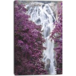 Designart Klonglan Waterfall Floral Abstract Canvas Artwork - 30