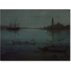 Whistler 'Nocturne In Blue And Silver The Lagoon Venice' Canvas Art - 32