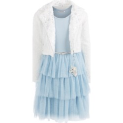 Beautees Big Girls 2-Pc. Faux-Fur Snowflake Jacket & Tiered Dress Set found on Bargain Bro Philippines from Macys CA for $61.47