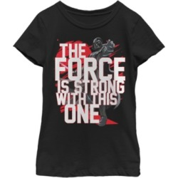 Fifth Sun Star Wars Big Girl's Force is Strong Darth Vader Short Sleeve T-Shirt found on Bargain Bro India from Macys CA for $23.08