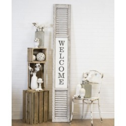"""Vip Home International Antique and Wood """"Welcome"""" Sign"""