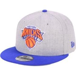 New Era New York Knicks Heather Gray 9FIFTY Snapback Cap