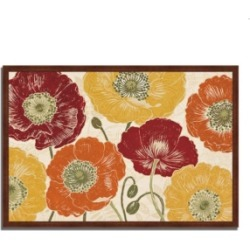 Tangletown Fine Art A Poppy's Touch I Spice by Daphne Brissonnet Framed Painting Print, 32
